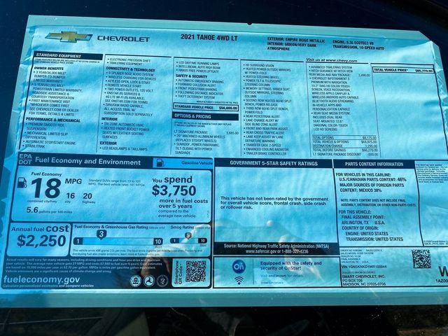 2021 Chevrolet Tahoe LT Madison, NC 10