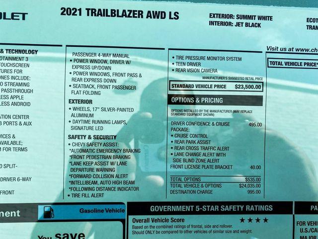 2021 Chevrolet Trailblazer LS Madison, NC 23