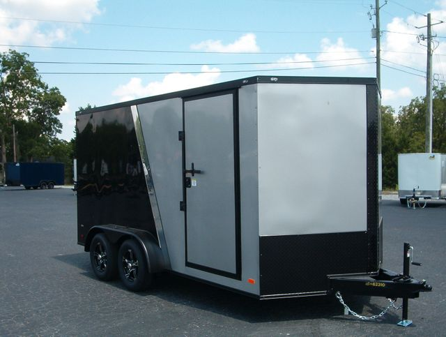 """2021 Covered Wagon Enclosed 7x14 6'6"""" Interior Height in Madison, Georgia 30650"""