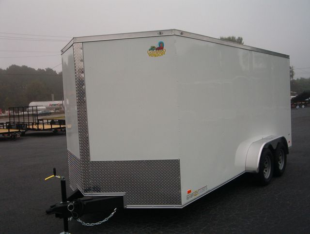 """2021 Covered Wagon Enclosed 7x16 6' 6"""" Interior Height in Madison, Georgia 30650"""