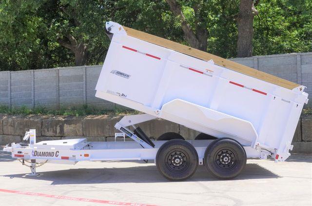 2021 Diamond C 82'' X 12' LOW PROFILE 14K DUMP TRAILER W/ SOLAR AND BOARD BRACKETS $15295 in Keller, TX 76111