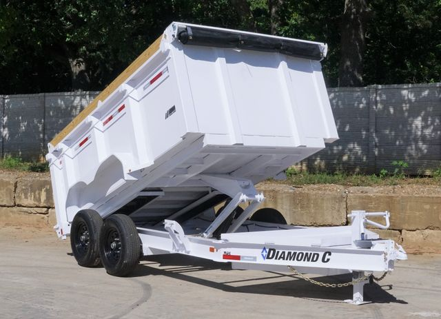 2021 Diamond C 82'' X 12' LOW PROFILE 14K DUMP TRAILER W/ SOLAR AND BOARD BRACKETS $12,995