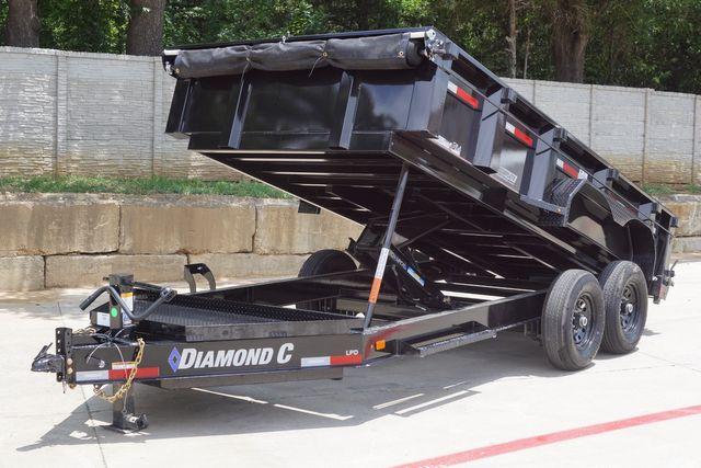 2021 Diamond C 82'' X 14' LOW PROFILE 14K DUMP TRAILER W/ SOLAR AND BOARD BRACKETS $12,795