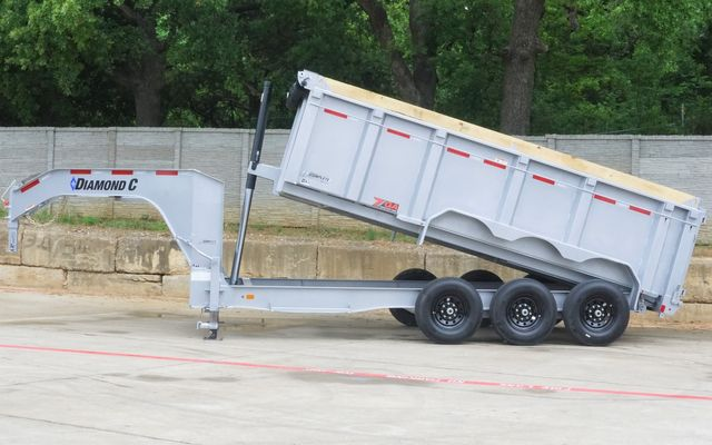 2021 Diamond C ALL NEW TRIPLE AXLE GOOSENECK TELESCOPIC DUMP TRAILER W/ 7G BODY AND SIDES $23,095 in Keller, TX 76111