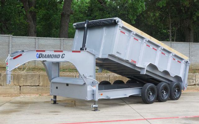 2021 Diamond C ALL NEW TRIPLE AXLE GOOSENECK TELESCOPIC DUMP TRAILER W/ 7G BODY AND SIDES $23,095 in Keller, TX 76111