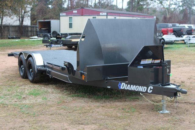 2021 Diamond C GSF252 20X82 General Steel Floor Trailer 20' Hydraulic Tilt CONROE, TX 1