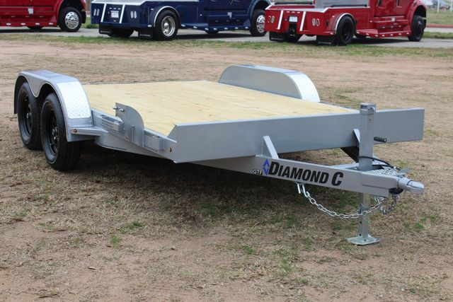 2021 Diamond C GTF235 - 14' General Tandem Wood Deck Flatbed Car Trailer CONROE, TX 0