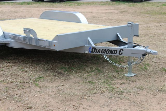 2021 Diamond C GTF235 - 14' General Tandem Wood Deck Flatbed Car Trailer CONROE, TX 2