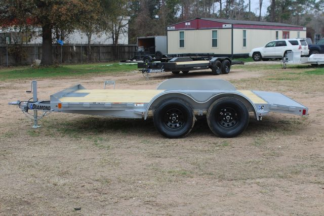 2021 Diamond C GTF235 - 14' General Tandem Wood Deck Flatbed Car Trailer CONROE, TX 7