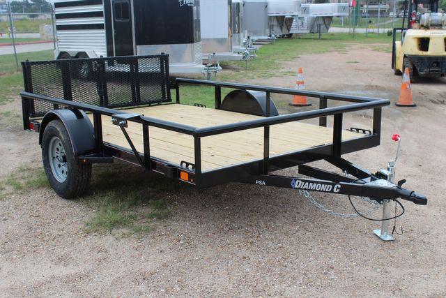 2021 Diamond C PSA - 10 PREMIUM SINGLE AXLE 3.5K WITH BIFOLD REAR GATE CONROE, TX