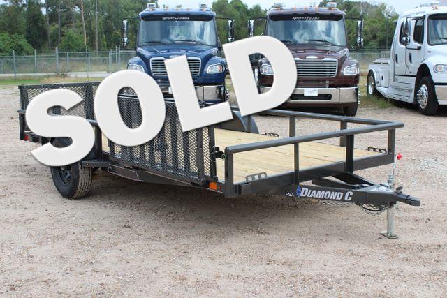 2021 Diamond C PSA - 14 ATV SINGLE AXLE UTILITY TRAILER ATV SIDE LOAD PACKAGE CONROE, TX
