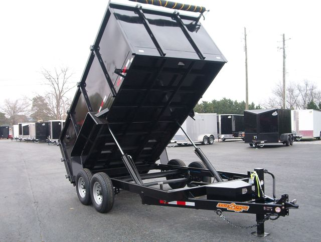 2021 Dump Trailer Down To Earth Dump 7x14 7 Ton 4ft Sides in Madison, Georgia 30650