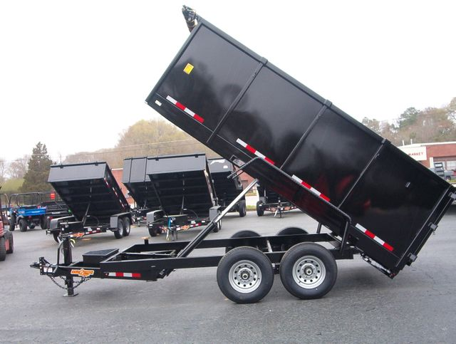 2021 Dump Trailer Down To Earth Dump 7x14 7 Ton 4ft Sides in Madison, Georgia 30650