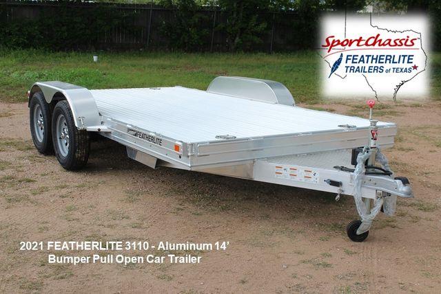 2021 Featherlite 3110 14' Car Trailer 14' Open Bumper Pull Car Trailer with Raised Deck