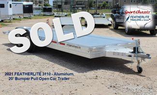 2020 Featherlite 3110 20' Open Aluminum Bumper Pull Car Trailer CONROE, TX