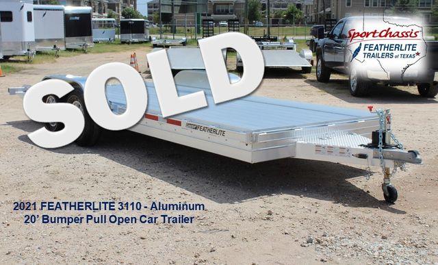 2020 Featherlite 3110 20' Open Aluminum Bumper Pull Car Trailer CONROE, TX 0