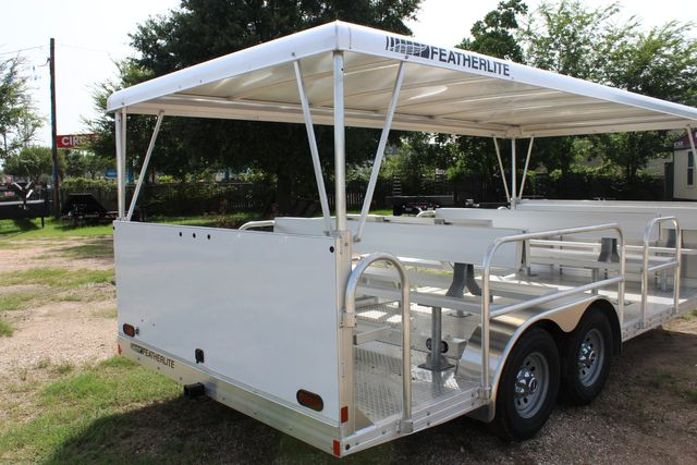 2021 Featherlite 3115 - TRAM TRAM TRAILER, 4.8K AXLES, ALUM SEAT, REMOVABLE TOP in Conroe, TX 77384