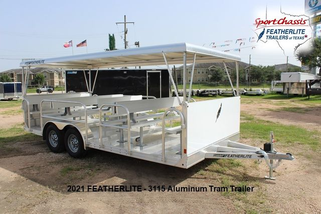 2021 Featherlite 3115 - TRAM TRAM TRAILER, 4.8K AXLES, ALUM SEAT, REMOVABLE TOP