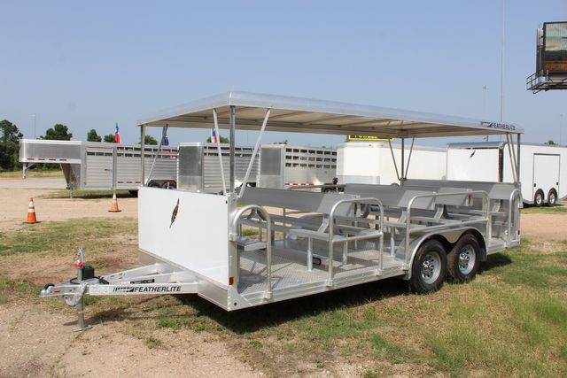 2021 Featherlite 3115 - TRAM TRAM TRAILER, 4.8K AXLES, ALUM SEAT, REMOVABLE TOP CONROE, TX 8