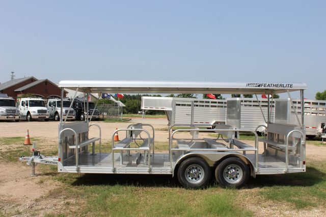 2021 Featherlite 3115 - TRAM TRAM TRAILER, 4.8K AXLES, ALUM SEAT, REMOVABLE TOP CONROE, TX 9