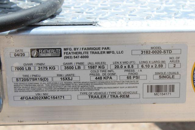 2021 Featherlite 3182 - 20 Bumper Pull 20' Open Car Trailer All Aluminum CONROE, TX 19