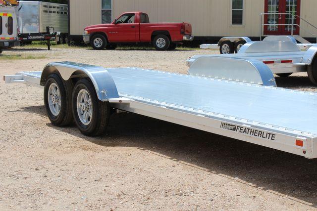 2021 Featherlite 3182 - 20 Bumper Pull 20' Open Car Trailer All Aluminum CONROE, TX 1