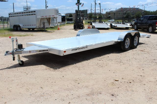2021 Featherlite 3182 - 20 Bumper Pull 20' Open Car Trailer All Aluminum CONROE, TX 7