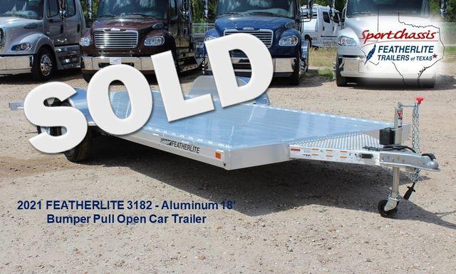 2021 Featherlite 3182 18' BUMPER PULL OPEN CAR TRAILER CONROE, TX