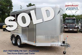 2021 Featherlite 7441 - 2H Slant Two Horse slant load bumper pull aluminum trailer CONROE, TX