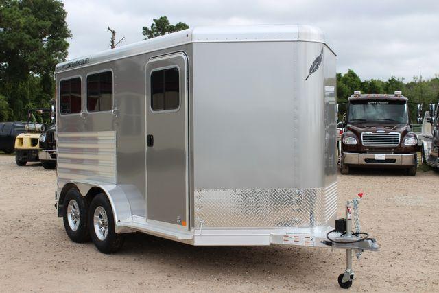 2021 Featherlite 7441 - 2H Slant Two Horse slant load bumper pull aluminum trailer CONROE, TX 28