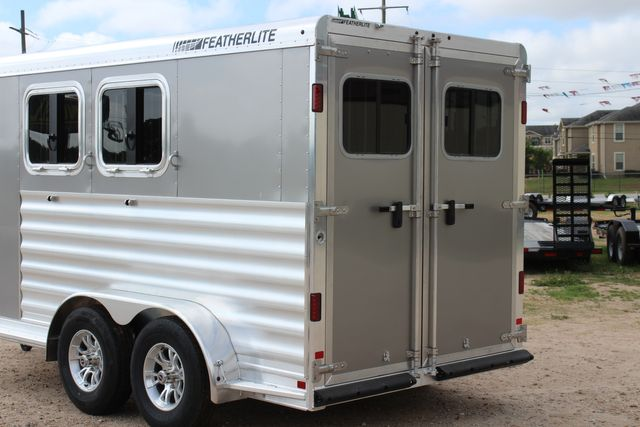 2021 Featherlite 7441 - 2H Slant Two Horse slant load bumper pull aluminum trailer CONROE, TX 11