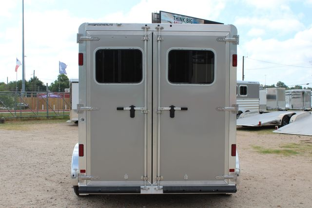 2021 Featherlite 7441 - 2H Slant Two Horse slant load bumper pull aluminum trailer CONROE, TX 12