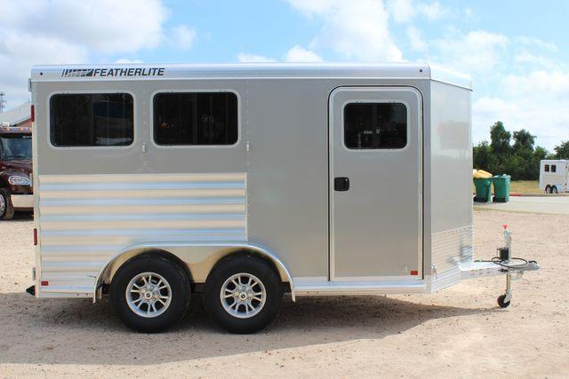 2021 Featherlite 7441 - 2H Slant Two Horse slant load bumper pull aluminum trailer CONROE, TX 21