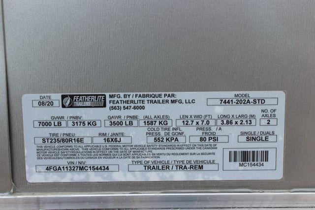 2021 Featherlite 7441 - 2H Slant Two Horse slant load bumper pull aluminum trailer CONROE, TX 29