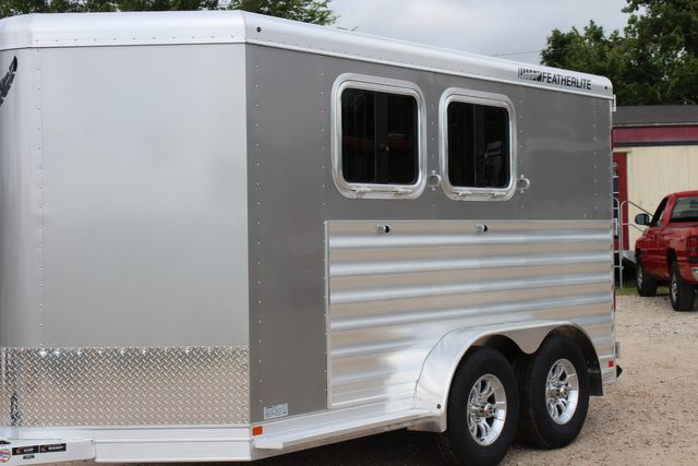 2021 Featherlite 7441 - 2H Slant Two Horse slant load bumper pull aluminum trailer CONROE, TX 5