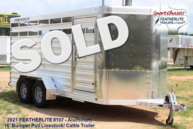 "2021 Featherlite 8107 - 16' Livestock package 6'7"" W x 6'6"" H x 16' L CONROE, TX"