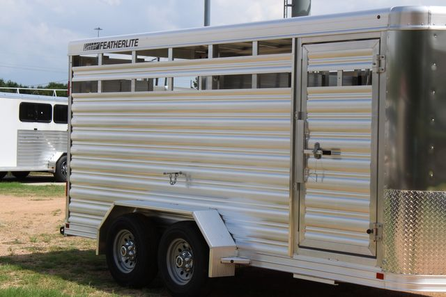 "2021 Featherlite 8107 - 16' Livestock package 6'7"" W x 6'6"" H x 16' L CONROE, TX 1"