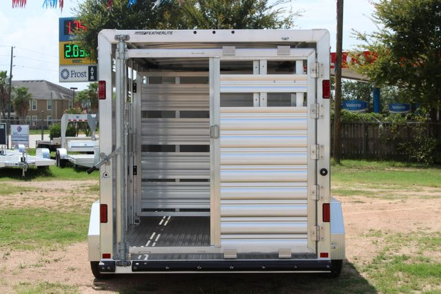"2021 Featherlite 8107 - 16' Livestock package 6'7"" W x 6'6"" H x 16' L CONROE, TX 12"