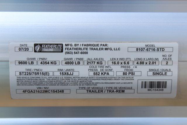 "2021 Featherlite 8107 - 16' Livestock package 6'7"" W x 6'6"" H x 16' L CONROE, TX 24"