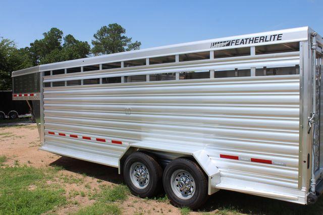 2021 Featherlite 8117 - 20 LIVESTOCK CATTLE 20' GOOSE NECK CONROE, TX 11