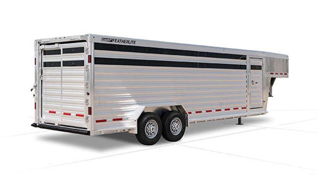 2022 Featherlite 8127 - 32' GN Livestock, 2 Cut Gates w/ sliders, Tandem 8Ks in Conroe, TX 77384