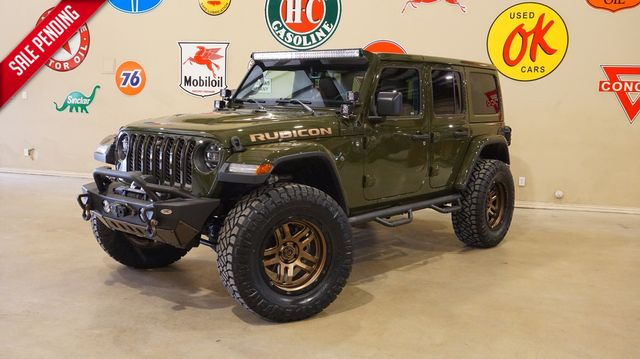 2021 Jeep Wrangler Unlimited Rubicon 4X4 LIFTED,BUMPERS,LED'S,FUEL WHLS
