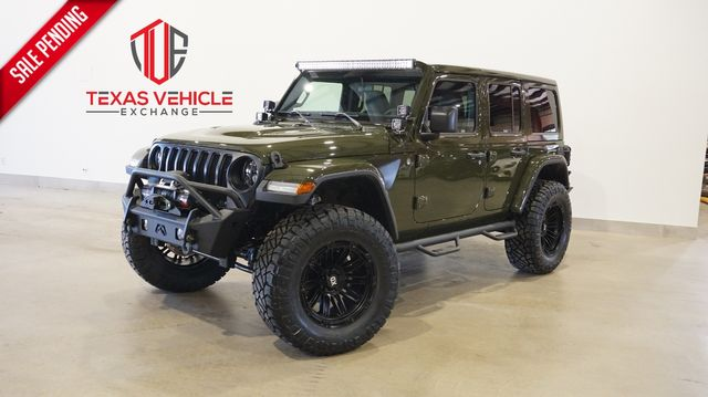 2021 Jeep Wrangler Unlimited Sport 4X4 LIFTED,BUMPERS,LED'S,20IN WHLS