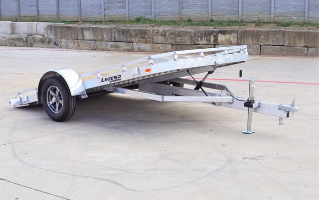 2021 Legend 7' X 12' All Aluminum Tilt Trailer With Torison Axles and Hydraulic Dampener $3795