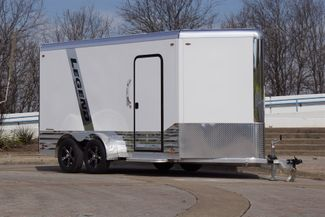 2021 Legend 7' x 17' Deluxe V-Nose All Aluminum Cargo Cargo UTV Trailer in Keller, TX 76111