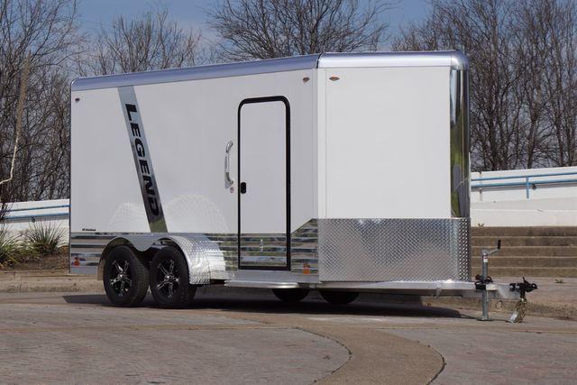 2021 Legend 7' x 17' Deluxe V-Nose All Aluminum Cargo Cargo UTV Trailer