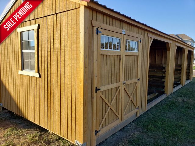 2021 Old Hickory Sheds 12x40 Animal Shelter with Tack Room