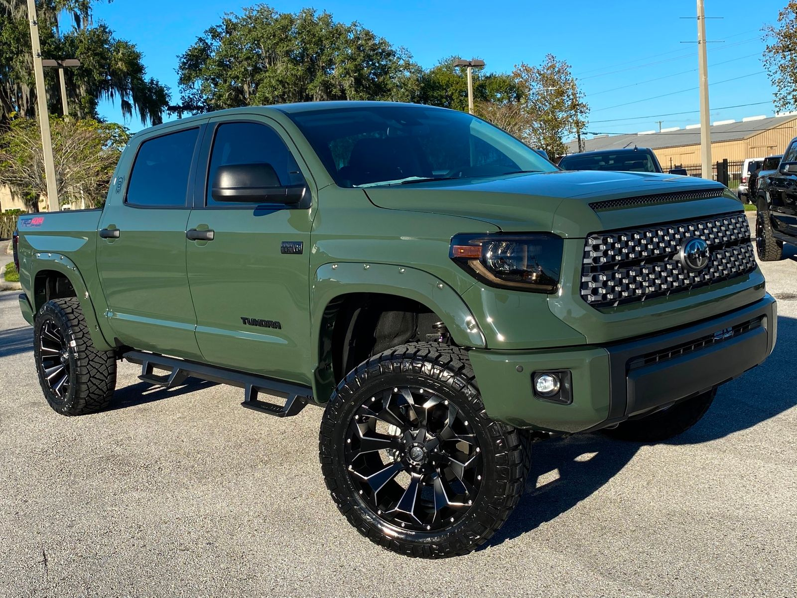2021 Toyota Tundra Army Trd Pro Custom Lifted Leather Crewmax Plant City Florida Bayshore Automotive