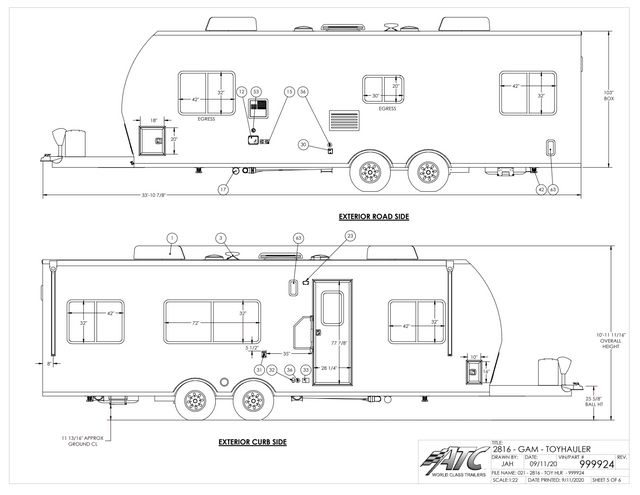2022 Atc 2816 GAME CHANGER PRO TOYHAULER (NOV 2021 COMPLETION) in Keller, TX 76111