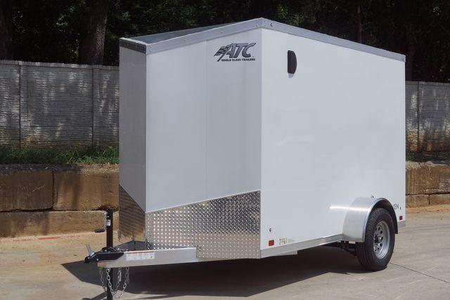 2022 Atc 6X10+2 LUXURY V-NOSE ALUMINUM FRAME CARGO TRAILER W/ RAMP DOOR $6,995